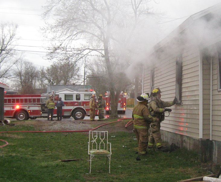 Fire Department Responding to House on Fire
