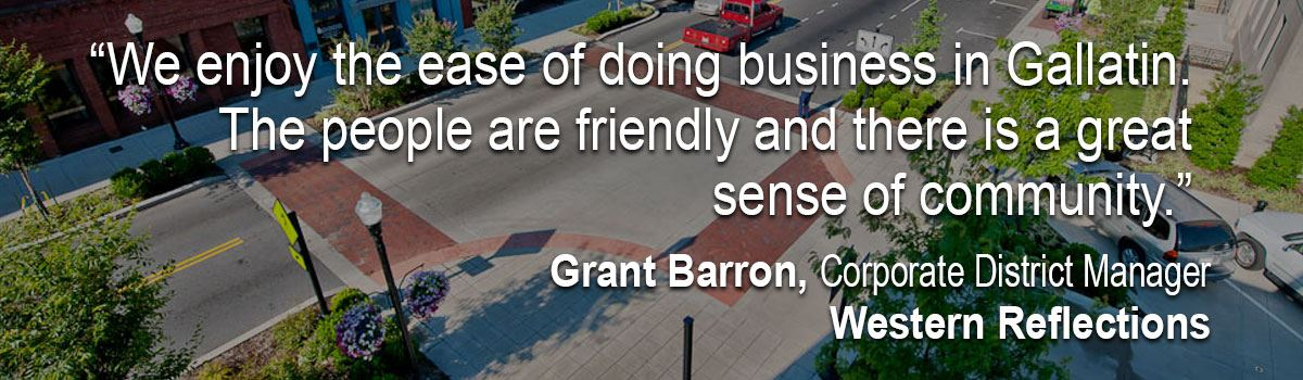 Quote on doing business in Gallatin