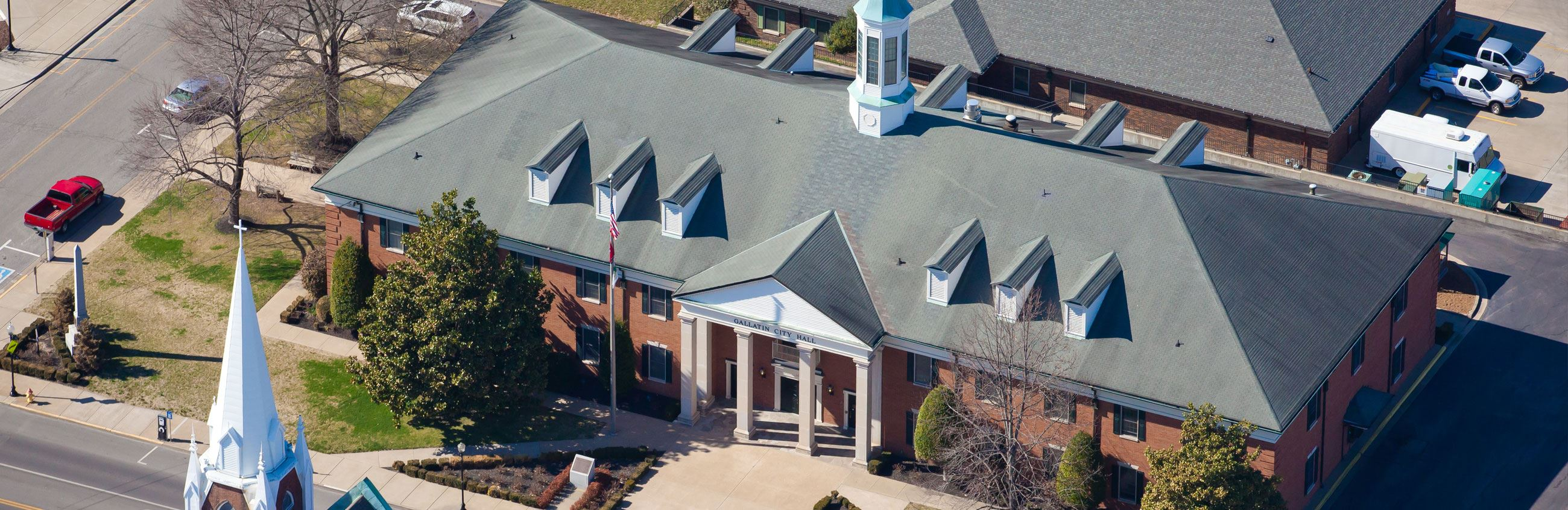 Arial View of Gallatin City Hall