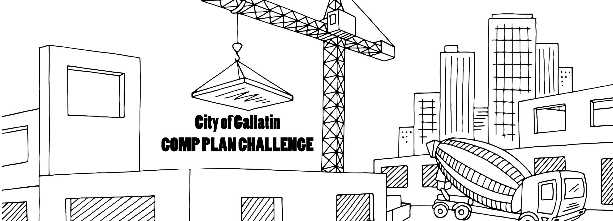 Outline drawing of future construction in Gallatin